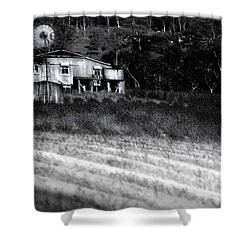 Living On The Land Shower Curtain by Holly Kempe