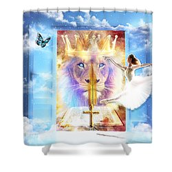 Living Word Of God Shower Curtain by Dolores Develde