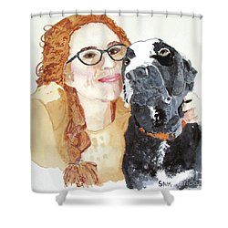 Livvy And Amos Shower Curtain
