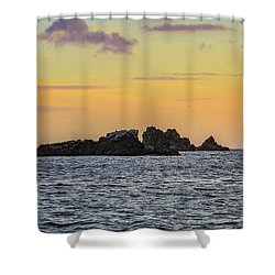 Lizard Point At Sunset  Shower Curtain