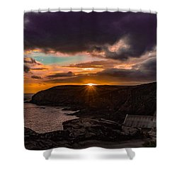 Lizard Point Sunset  Shower Curtain by Claire Whatley