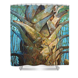 Shower Curtain featuring the painting Lizards And Boots by AnnaJo Vahle