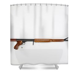 Ljutic Space Rifle Shower Curtain