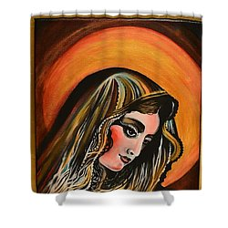 lLady of sorrows Shower Curtain