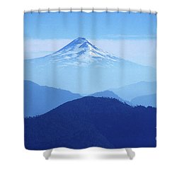 Llaima Volcano Chile Shower Curtain by James Brunker