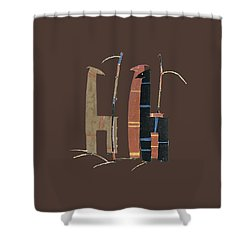 Llamas T Shirt Design Shower Curtain