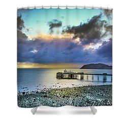 Llandudno Pier Shower Curtain