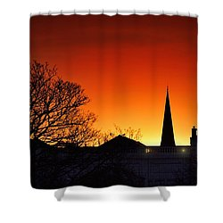 Llanelli Rooftops Shower Curtain