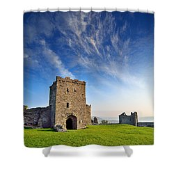 Llansteffan Castle 1 Shower Curtain