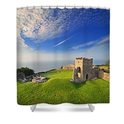 Llansteffan Castle 2 Shower Curtain