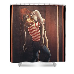 Shower Curtain featuring the painting Llego' Con Tres Heridas by William Hart McNichols