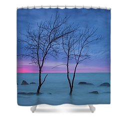 Lm Trees Shower Curtain