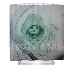 Lnl Reaper Specter Shower Curtain