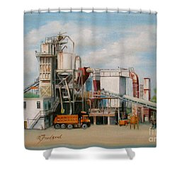 Load  The Big Orange Truck Shower Curtain