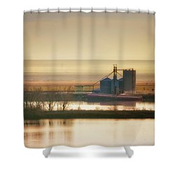Shower Curtain featuring the photograph Loading Grain by Albert Seger