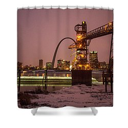Loading Grain At Cargil St Louis Shower Curtain by Garry McMichael