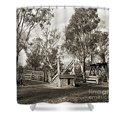Shower Curtain featuring the photograph Loading Ramp by Linda Lees