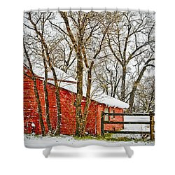 Loafing Shed Shower Curtain by Marilyn Hunt