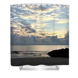 Lone Fishing Shower Curtain