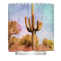 Lone Saugaro Shower Curtain