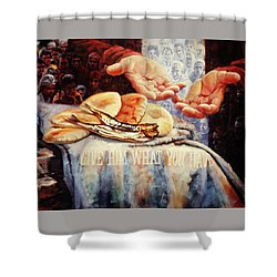 Loaves And Fishes 2 Shower Curtain