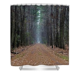 Shower Curtain featuring the photograph Loblolly Lane by Robert Geary