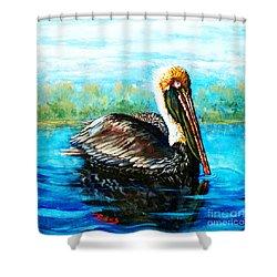L'observateur Shower Curtain by Dianne Parks