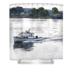 Lobster Boat Lbwc Shower Curtain