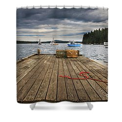 Lobster Boats Of Winter Harbor Shower Curtain