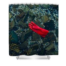 Lobster Glove Shower Curtain