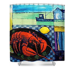 Lobster Shower Curtain by Mikhail Zarovny
