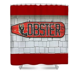 Lobster Paddle Shower Curtain