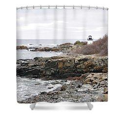 Lobster Point Lighthouse - Ogunquit Maine Shower Curtain