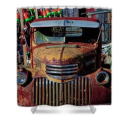Lobster Pots And Chevys Shower Curtain