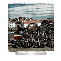 Lobster Pots Shower Curtain