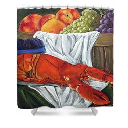 Lobster Still Life Shower Curtain