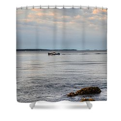 Lobsterboat Freedom II - Bass Harbor, Maine Shower Curtain