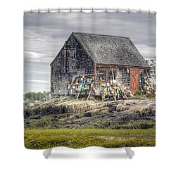 Lobsterman's Shack Of Mackerel Cove Shower Curtain