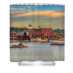 Shower Curtain featuring the photograph Lobsters by Rick Berk