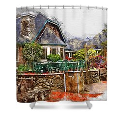 Local Grill And Scoop Shower Curtain