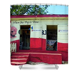 Shower Curtain featuring the photograph Local Rum Shop, Barbados by Kurt Van Wagner