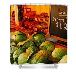 Locally Grown Shower Curtain by James Kirkikis