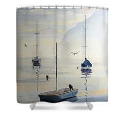 Locarno Boats In February Shower Curtain