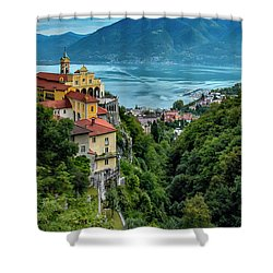 Locarno Overview Shower Curtain by Alan Toepfer