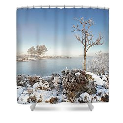 Loch Ba Winter Shower Curtain