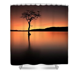 Shower Curtain featuring the photograph Loch Lomond Afterglow by Grant Glendinning