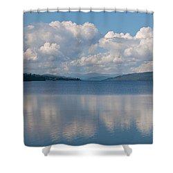 Loch Rannoch Clouds Shower Curtain by Chris Thaxter