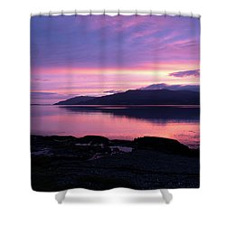 Loch Scridain Sunset Shower Curtain