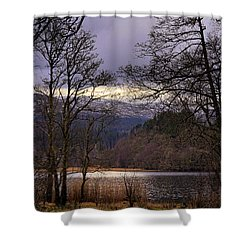 Shower Curtain featuring the photograph Loch Venachar by Jeremy Lavender Photography