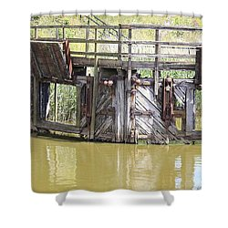 Lock Shower Curtain by Keith Sutton